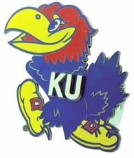 Kansas Jayhawks Logo Trailer Hitch Cover