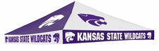Kansas State Wildcats Purple / White Checkerboard Logo Tent Replacement Canopy