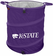 Kansas State Wildcats Tailgate Trash Can / Cooler / Laundry Hamper