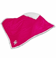 Kentucky Wildcats Pink Sherpa Throw Blanket