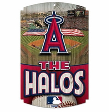 Los Angeles Angels of Anaheim Wood Sign