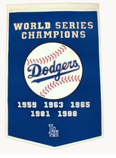 Los Angeles Dodgers 24x36 Wool Dynasty Banner