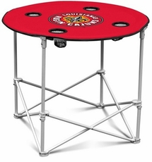 Louisiana Lafayette Ragin Cajuns Round Tailgate Table