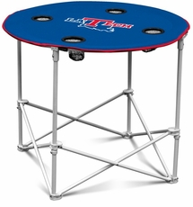 Louisiana Tech Bulldogs Round Tailgate Table
