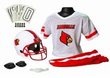 Louisville Cardinals Deluxe Youth / Kids Football Helmet Uniform Set