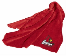 Louisville Cardinals Fleece Throw
