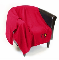 Louisville Cardinals Sweatshirt Throw Blanket