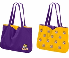 LSU Tigers Reversible Tote Bag