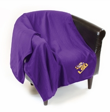 LSU Tigers Sweatshirt Throw Blanket