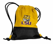 LSU Tigers Yellow String Pack / Backpack