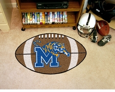 "Memphis Tigers 22""x35"" Football Floor Mat"