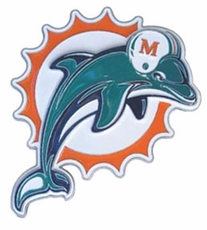 Miami Dolphins Logo Trailer Hitch Cover