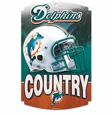 Miami Dolphins Wood Sign