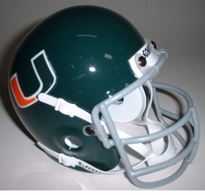 Miami Hurricanes 1973-75 Schutt Throwback Mini Helmet
