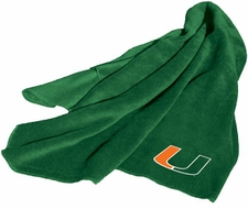 Miami Hurricanes Fleece Throw