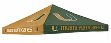 Miami Hurricanes Orange / Green Logo Tent Replacement Canopy