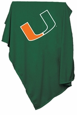 Miami Hurricanes Sweatshirt Blanket