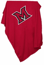 Miami of Ohio Redhawks Sweatshirt Blanket
