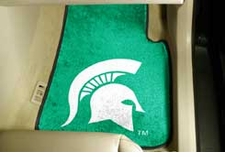 Michigan State Spartans 2-Piece Carpeted Car Mats Front Set
