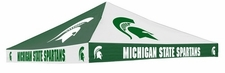 Michigan State Spartans Green / White Checkerboard Logo Tent Replacement Canopy