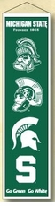 Michigan State Spartans Wool 8x32 Heritage Banner