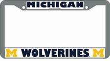 Michigan Wolverines Chrome License Plate Frame