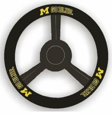 Michigan Wolverines Leather Steering Wheel Cover