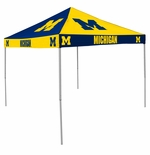 Michigan Wolverines Navy / Yellow Checkerboard Logo Canopy Tailgate Tent