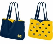 Michigan Wolverines Reversible Tote Bag