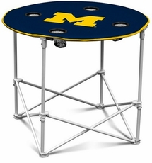 Michigan Wolverines Round Tailgate Table