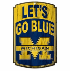 Michigan Wolverines Wood Sign