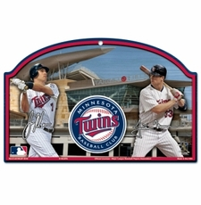 Minnesota Twins Wood Sign - Players Design