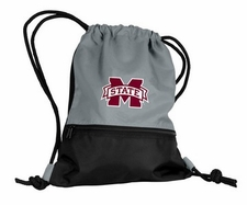 Mississippi State Bulldogs Gray String Pack / Backpack