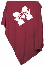 Mississippi State Bulldogs Sweatshirt Blanket (Red)
