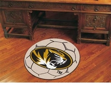 "Missouri Tigers 27"" Soccer Ball Floor Mat"