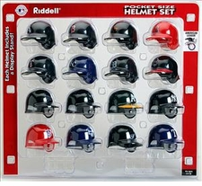 MLB American League Pocket Pro Batting Helmet Set