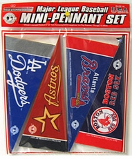 MLB Mini Pennant Set