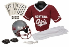 Montana Grizzlies Deluxe Youth / Kids Football Helmet Uniform Set