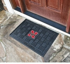 Nebraska Huskers 19x30 Medallion Door Mat