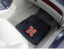 Nebraska Huskers 2-Piece Heavy Duty Vinyl Car Mat Set