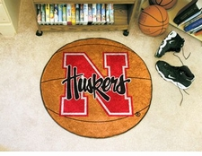 "Nebraska Huskers 27"" Basketball Floor Mat"