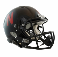 Nebraska Huskers Black Riddell Revolution Speed Authentic Helmet