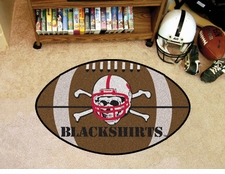 "Nebraska Huskers Blackshirts 22""x35"" Football Floor Mat"