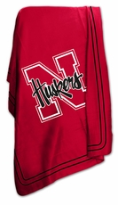 Nebraska Huskers Classic Fleece Blanket