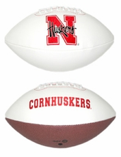 Nebraska Huskers Full Size Signature Embroidered Football