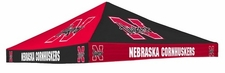 Nebraska Huskers Red / Black Checkerboard Logo Tent Replacement Canopy