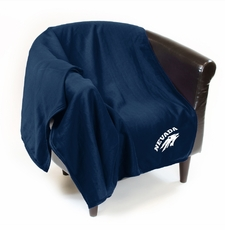 Nevada Wolfpack Sweatshirt Throw Blanket
