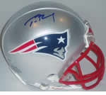 New England Patriots Autographed Football Gear