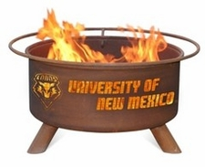 New Mexico Lobos Outdoor Fire Pit
