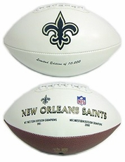 New Orleans Saints Embroidered Autograph Signature Series Football